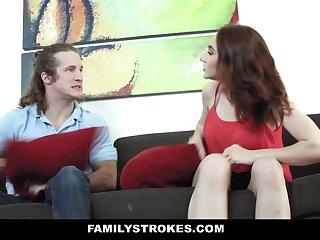 FamilyStrokes - Hot Stepsis Gets Pussy Pounded by Jerk Stepbro